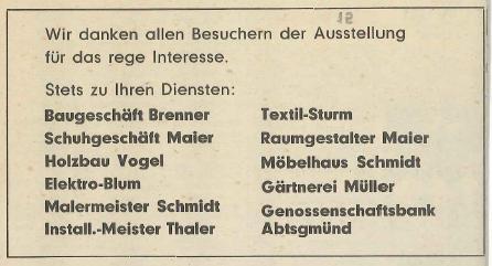 Zeitungsbericht DANKE GHV Ausstellung